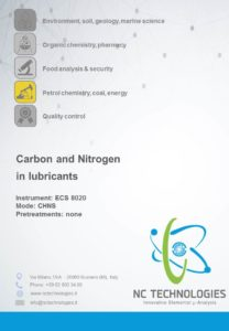 Carbon and Nitrogen in Lubricants