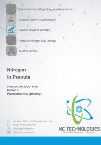 Determinazione dell'azoto totale nelle arachidi