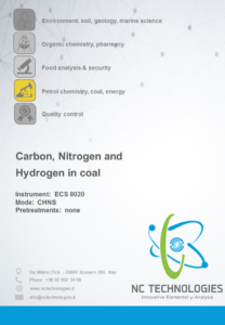 Application note of carbon, nitrogen and hydrogen in coal